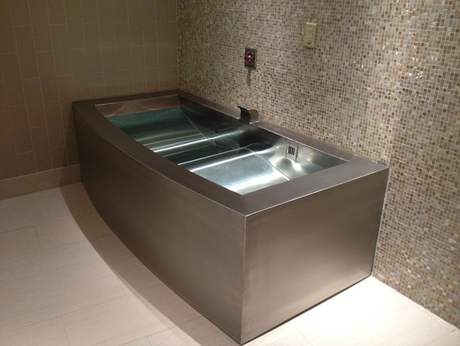 Stainless steel plunge tank or spa