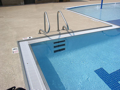 stainless steel pool gutter